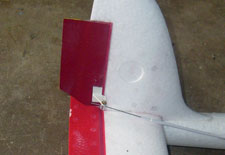 Extended tail rudder for better turning perormance