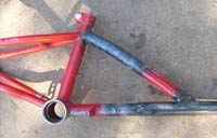 Top tube of kids bike needed bending to help line things up properly