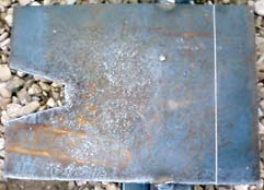 Skidplate cut out of steel