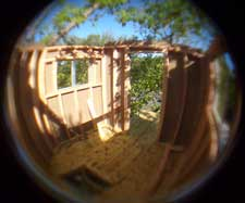Fisheye of the inside with all the walls up